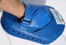 2 Handpratzen PU Leder Blau Focus Point Hand Schlagpolster Kick Pad Box Training