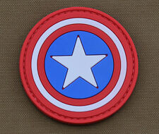 "PVC / Rubber Patch ""Captain America Shield"" with VELCRO® brand hook"
