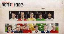 GB 2013 Paquete de Presentación héroes del fútbol Nº 484 sello de menta conjunto SG 3463-73 #484