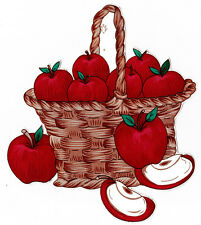 "4"" Apples in a basket fruit kitchen prepasted wall border cut out"