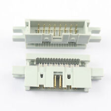5Pcs 2.54mm Pitch Male 16 Pin Straight IDC Type Cable Box Header Connector