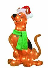 24-Inch Pre-Lit Scooby Doo with Santa Hat Christmas Yard Decoration