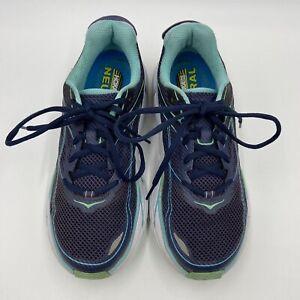 Hoka One One W Clifton 3 Running Shoes Blue Aqua Women's Size 9