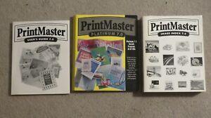 PrintMaster Premier Platinum 7.0 Windows 95, 98, NT4.0 User Guide & Index Books