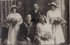 WW1 Sailor Chief Petty Officer Stoker with Bride on Wedding Day Southampton