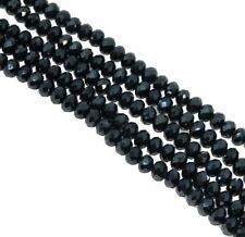 Dark Topaz Faceted 6mm Rondelle Beads 90 Piece Luster Glass Crystal Beads