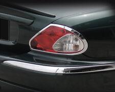 Jaguar X-Type Taillight Chrome Trim 2pcs set 2002 2003 2004 2005 2006 Tail Light