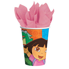 Dora and Friends 9 oz Paper Cups 8 Per Package Birthday Party Supplies New