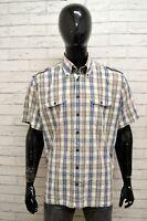 Camicia CAMEL ACTIVE Uomo Taglia Size XL Maglia Chemise Shirt Man Cotone Quadri
