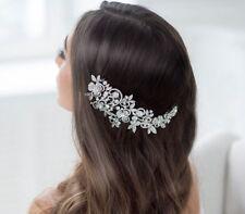 Bridal Wedding Flower Hair Comb Vintage Style Headpiece Rhinestone Fashion