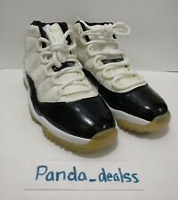 "Air Jordan Retro 11 ""Concord"" XI White/Black size 9 2000 136046-101"