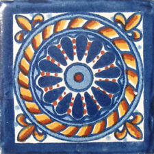 #C007) Mexican Tile sample Ceramic Handmade 4x4 inch, GET MANY AS YOU NEED !!