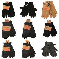 Dockers Gloves for Men Black Genuine Leather Winter Fashion