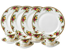 Royal Albert Old Country Roses 12 Piece Dinnerware Set Service For 4 New Boxed