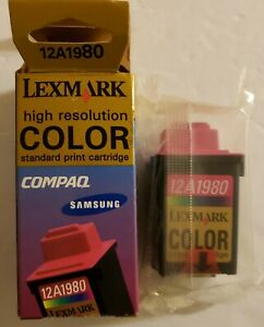 Lexmark 12A1980 High Resolution Color Standard Print Cartride New.Factory sealed