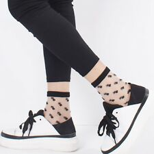 Women Fashion Mesh Glass Silk Socks Ultrathin Transparent Crystal Summer Socks P