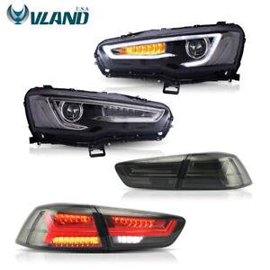 VLAND LED Headlights&Tail Lights For Mitsubishi Lancer EVO 2008-2017 Audi Look