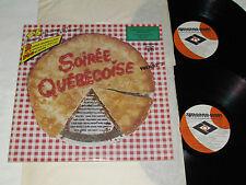 SOIREE QUEBECOISE VOLUME 2 Soirée 2-LP Quebec Song Compilation VG/VG/VG+