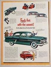 1952 Print Ad Ford Customline 4-Door Ablest Cars on American Roads Power Pedals