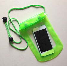 Waterproof GREEN Pouch for Phone / Camera Keys Money Dry Bag Sports Beach Case