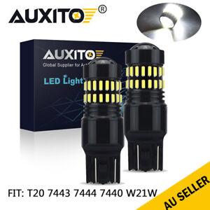 2PC T20 7444 7443 7440 LED Backup Reverse DRL Light Super Bright Indicator Globe
