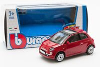 Fiat 500 in Red, Bburago 18-30184, scale 1:43, toy gift model