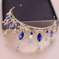 Baroque Crown Crystal Bridal Tiaras Vintages Wedding Rhinestone Diadem Pageant