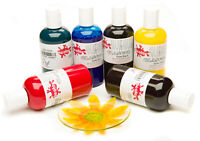 Scola Glass Art Paints 6 Assorted Colours 150ml Bottles Glascol Craft Painting
