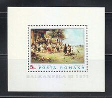 Romania 1971 MNH Mi Block 84 Sc 2284 Dancing the Hora, by Theodor Aman