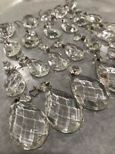 Chandelier Crystals Teardrop Vintage Glass
