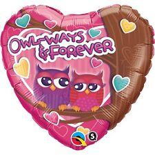 45cm Owl-Ways & Forever Foil Balloon Q40122 Love Weddings Birthday Decoration