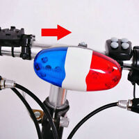 6 LEDs 4 Tone Sounds Bicycles Bell Electronic Horn Siren for Kid's Bike Scooter