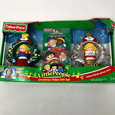 Fisher Price Little People Holiday Christmas Video Gift set Tree Ornament NEW