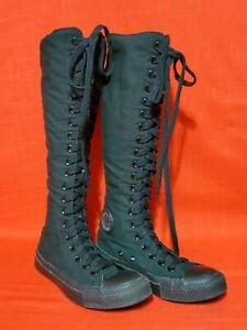 Rare Triple Black Converse Chuck Taylor All-Star XXHi Knee Unisex Size M 4/ W 6