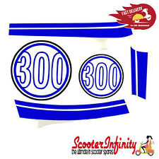 Sticker Decoration Trim for Vespa GTS Super 300 (Montebianco 544, blue / white)