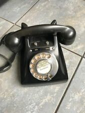 Very Rare 1920s Art Deco Black Office Phone in Perfect Condition