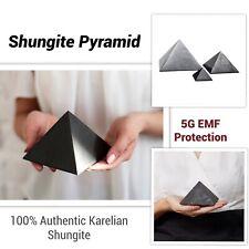 Shungite Pyramid EMF Protection (Choose your size) Natural Healing Stone Karelia