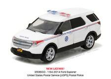 1/64 GREENLIGHT BLUE COLLAR 2 2014 FORD EXPLORER US POSTAL SERVICE POSTAL POLICE