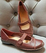 BRAND NEW CLARKS Flat Leather Shoes- UK 6 / EU 39 - RRP £35 - Burgundy - RRP £39