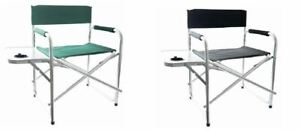 Aluminum Folding Directors Chair with Side Table Camping Travelling