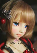 1 6 6-7 Bjd Wig SD DOC YOSD BB Dal supper Dollfie Doll wigs gold brown 15-17