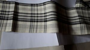 MERCERIE RUBAN  ecossais marrine 0,50m x 14,00 cm@RUBBON