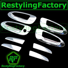Triple Chrome 4 Door Handle+No PSG Keyhole Cover for 02-06 Nissan Altima