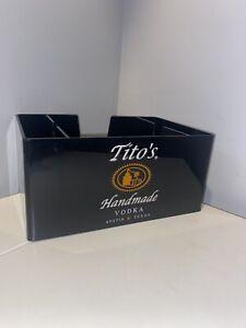 Tito's Handmade Vodka Plastic  Bar Caddy / Napkin Holder Used Lightly