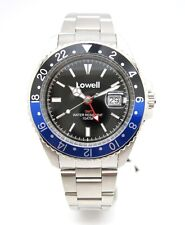 Orologio Lowell Hurricane GMT 10atm ghiera bicolor blu/black bezel Ref.PM0915-83