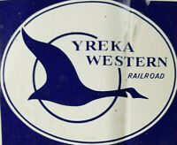 Yreka Western Railroad California Passenger Train Sprint Co. Label Logo Sticker