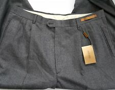 Men's Today's Man Pleated Front Gray Pants All Wool Super 100's Classic Fit W 40