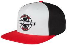 INDEPENDENT TRUCK CO 95 BTG RING SNAPBACK CAP RED/ BLACK / WHITE