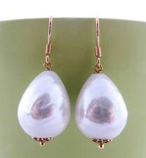 Orecchini con perle barocche, pendenti argento dorato 925, gioielli fatti a mano