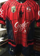 2017 SYDNEY ROOSTERS SIGNED MARVEL JERSEY